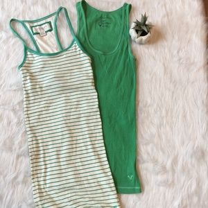 American Eagle Outfitters Ribbed Tank Top Bundle